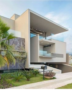 Modern luxury residential project in Brazil - .-Modernes Luxuswohnprojekt in Brasilien – Modern luxury residential project in Brazil – - Modern Residential Architecture, Architecture Plan, Interior Architecture, Beautiful Architecture, Modern Mansion Interior, Minimalist Architecture, Chinese Architecture, Futuristic Architecture, Luxury Interior