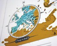 scratch off travel map - cool!