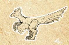 Raptor sketch by Illusiontracions.deviantart.com on @DeviantArt