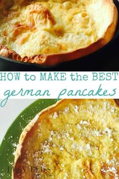 How to Make the Best German Pancakes Recipe – Busy Bliss How to Make the Best German Pancakes Recipe–I've heard these called a Dutch Baby. Sounds delicious and easy! Breakfast Dishes, Breakfast Recipes, Breakfast Ideas, Pancake Recipes, Breakfast Sandwiches, Breakfast Pizza, Breakfast Muffins, Waffle Recipes, Brunch Ideas