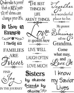 Beautiful vinyl lettering sayings – to put onto canvas / wood? Beautiful vinyl lettering sayings – to put onto canvas / wood? Scrapbook Quotes, Scrapbook Titles, Scrapbooking, Images Vintage, Small Tiles, Verses For Cards, Card Sayings, Vinyl Sayings, Image Digital