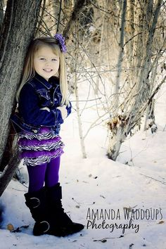 I love shoots in the snow! Little kids in boots are adorable. #Photography #Snow #Kids