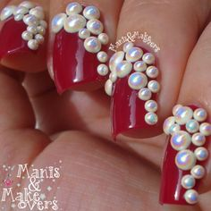 Manis & Makeovers: Born Pretty Store Shiny Pearl Rhinestones for #RedCoatTuesday http://manisandmakeovers.blogspot.com/2014/06/born-pretty-store-shiny-pearl.html