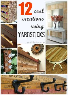12 cool and unique ideas for DIYing with yardsticks via sasinteriors.net #DIY #Yardstick