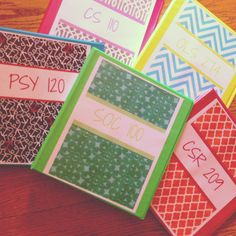 Binder covers #bindercover #organization #srat #college