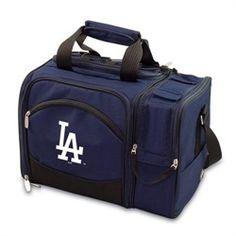 Los Angeles Dodgers LA Picnic Basket Set For 2 Wine Tote