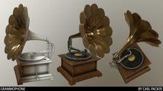 ArtStation - Gramophone (asset test), Carl Packer