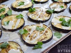 Roasted Eggplant with Lemon Tahini Dressing - Budget Bytes