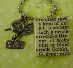 CROCHET Charm Scrabble Necklace