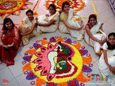 Onam Pookkalam and Payasam competition at Rajiv Gandhi Indoor Stadium, Kadavanthra!!!