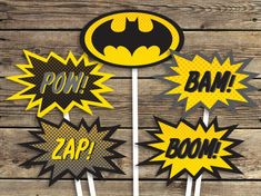 BATMAN Printables Sign Centerpiece photo prop by CardsnLetters