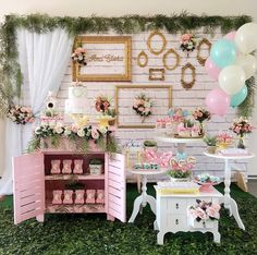 How about this for a Baby Shower Party? Boho Baby Shower, Girl Shower, Bridal Shower, Birthday Decorations, Baby Shower Decorations, Wedding Decorations, Baby Party, Baby Shower Parties, Shower Party
