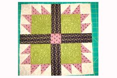 Choose from two sizes when you sew my easy Bear's Paw quilt block pattern. The traditional Bear's Paw quilt block is a quilter's favorite.
