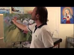 ▶ Orchids. Oil painting flowers with a palette knife & paintbrush. Full video tutorial from Saharov - YouTube