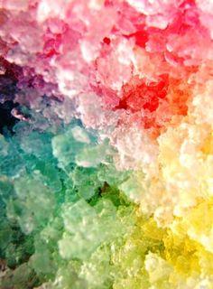 i want rainbow  shaved ice so bad right now.