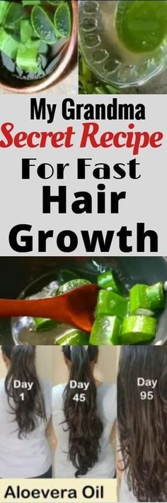 DIY Aloe Vera oil for fast hair growth. My grandma secret recipe for fast hair growth
