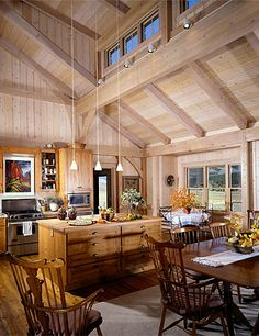 10 Cathedral Ceiling Design Ideas For Your Luxury Rooms Open Kitchen Layouts, Open Concept Kitchen, Open Plan Kitchen, Kitchen Ideas, Clerestory Windows, Dormer Windows, Shed Plans 12x16, Shed Dormer, Barn Renovation