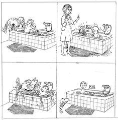 "Images séquentielles ""Un bain éclaboussant"" (4 images) Speech Language Therapy, Speech And Language, Speech Therapy, Senses Activities, Preschool Activities, Exam Pictures, 4 Image, Sequencing Cards, 1st Grade Worksheets"