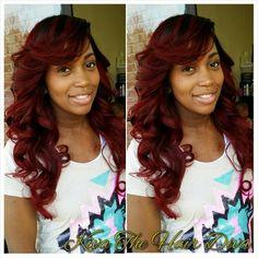 Full SewIn Weave with lace closure. Kustom Kolors. Kiva the Hair Diva!