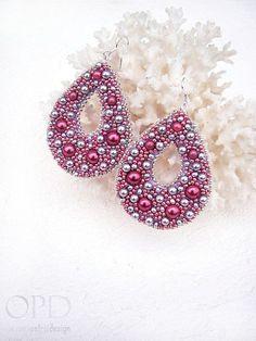 Картинки по запросу earrings from beads