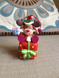 Polymer Clay tree decorations set,christmas ball,snowman ball,Santa ball,clay reindeer with gift,hanging decorations,Christmas stocking Set made of: - 1 Reindeer gift packs with led that changes color :) Mesure: 4 inch tall, 2 inch large -2 Christmas balls with Santa and Snowman Mesure: 4 Christmas Topper, Polymer Clay Christmas, Diy Christmas Ornaments, Christmas Decorations, Hanging Decorations, Christmas Stocking, Christmas Balls, Polymer Clay Owl, Polymer Clay Ornaments