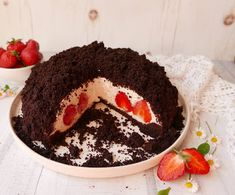 Bacon, Pudding, Cake, Fitt, Drinks, Mint, Mascarpone, Strawberries, Drinking