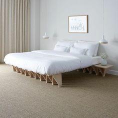 Tojo Designer Bett Mit Nachttisch Seitlich