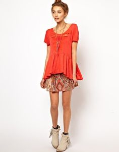 sweet and girly styling / Free People Candy Crafty T-Shirt, ASOS