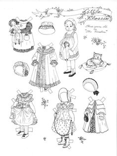 little flossie by helen page a paper doll - Paper Doll Clothes Coloring Pages