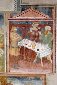 Oratorio di S. Stefano a Lentate sul Seveso  Leggenda di S. Stefano, riquadro 22. I genitori apprendono la notizia della morte di Stefano. I...