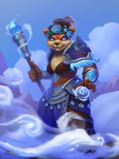 Warcraft Legion, Warcraft Art, World Of Warcraft Characters, Fantasy Characters, Fictional Characters, Pandaren Monk, Hearthstone Heroes, Beautiful Chickens, Vampires And Werewolves
