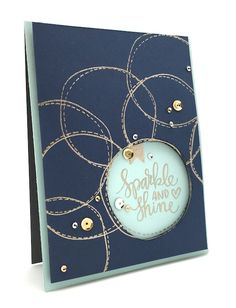 Kathy Racoosin used the Sparkle and Shine stamp set to make this lovely card!