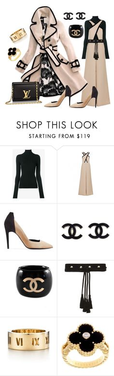 """Rush hour"" by ellenfischerbeauty ❤ liked on Polyvore featuring Acne Studios, Kate Spade, Pierre Hardy, Chanel, Maje, Louis Vuitton, Tiffany & Co. and Van Cleef & Arpels"