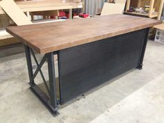 the industrial l shape carruca office desk - large executive desk