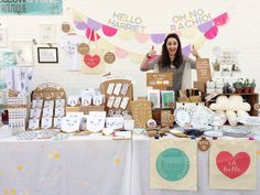 Gorgeous craft show table from hello harriet