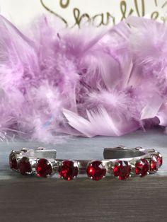 Swarovski Crystal Cuff Bracelet in Siam - Valentine