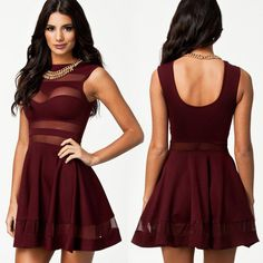 Sweet Hearti Skater Dress ($28) ❤ liked on Polyvore