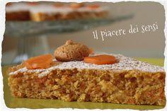 Torta con carote e amaretti - Carrot cake ottima per la colazione, ma non solo! vi delizierà con leggerezza tutte le volte che avete bisogno di una coccola