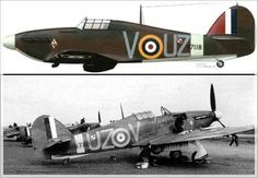 Hawker Hurricane Mk.I nr V7118 UZ-V  z 306 Dywizjonu Myśliwskiego Toruńskiego- lotnisko Ternhill marzec 1941