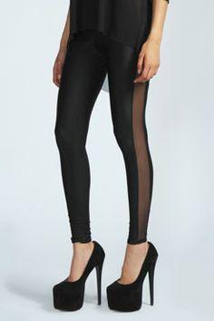 Boohoo mesh leggings-love a variety of black leggings in the closet