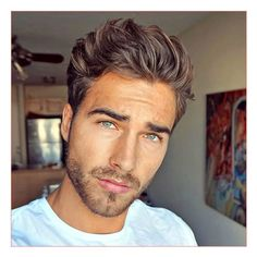 Braids Hairstyles For Mens plus Messy Brushed Up Hair with Light Beard