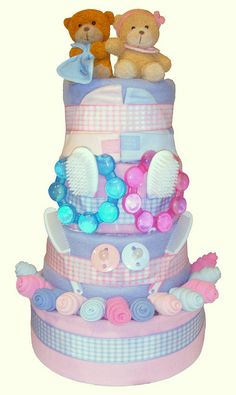Twins Nappy Cake http://www.giftsdirect.com/gift-type/hampers-food-baskets/