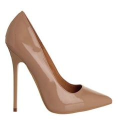 Office On Tops Point High Heels Nude Patent - High Heels