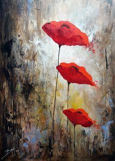 Acrylique sur toile, Ardeur fragile. Artiste Bruni Eric.