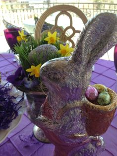 Purple Chocolat Home: Easter Bunny Birthday Lunch