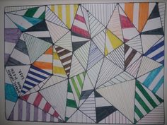 Triangles & Lines Colours,pencil and rubber 2017/2018
