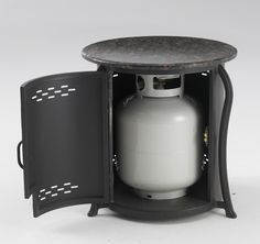 Fueled by propane http://www.urbanpatioliving.com/products/index.php?type=967=967:0:0:0:0