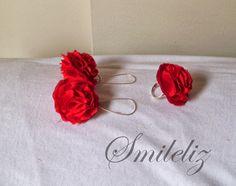 Rojo ... pasión Stud Earrings, Red, Jewelry, Jewlery, Bijoux, Studs, Schmuck, Stud Earring, Jewerly