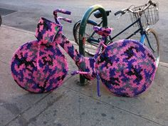 Bike Cozy for Nostalgic Irony-Free Hipsters and Home-Knitters - Brooklyn Street Art