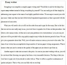 Help doing my essay